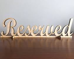 metal reserved table signs reserved signs etsy