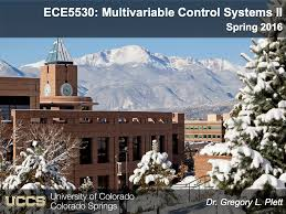 Uccs Map Ece5530 Multivariable Control Systems Ii