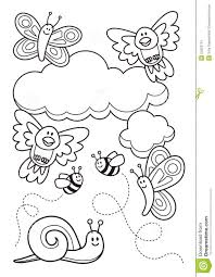 baby animals coloring book stock image image 24203751