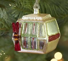 gondola ornament ski gondola ornament pottery barn