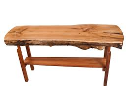 live edge console table available to purchase