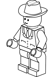 lego man cowboy hat coloring free printable coloring pages