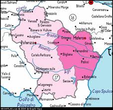 provinces of italy map a detailed map of basilicata italy