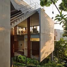 steep slope house plans floating tropical house design on a steep slope casa em ubatuba