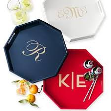 monogrammed platters personalized serving trays and graham