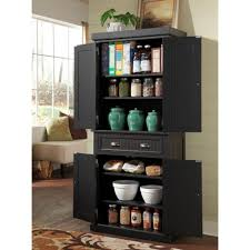 Kitchen Pantry Storage Cabinets Organized Black Kitchen Pantry New Home Design