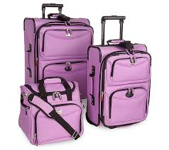 ultra light luggage sets delsey 3pc 1800 denier ultra light expandable luggage set qvc com