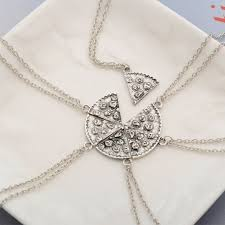 necklace choker chain images Of pizza pendant chain necklace choker gift for pizza lover friend jpg