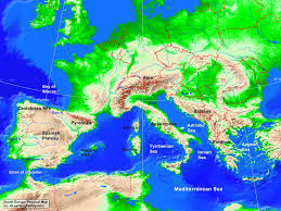 Map Of Mediterranean Europe by South Europe Physical Map A Learning Family