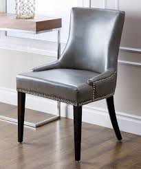 look at this gray kandra nailhead leather dining chair on zulily