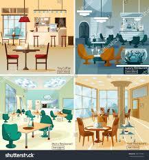 luxury hotel coffee bar interior 4 vectores en stock 359127584