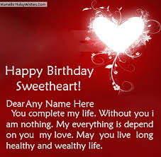 birthday wishes to loved ones