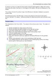 Brown Line Map An Introduction To Contour Lines Maps And Map Skills