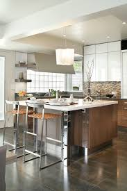 contemporary kitchen design bilotta ny contemporary kitchen with u shape d layout features an island with polished stainless legs