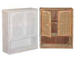 Bathroom Wicker Furniture Various Wicker Medicine Cabinet On Bathroom Cabinets Best