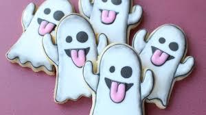 ghost emoji cookies cute u0026 easy halloween cookies youtube