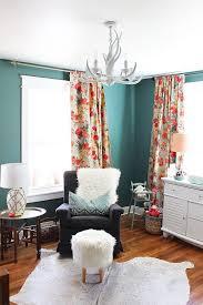 Teal Living Room Curtains Baby Room Curtain Blue Nursery Curtains Valance Green Wonderful