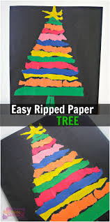 easy ripped paper tree craft for the whole family paper trees