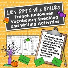 french halloween speaking and writing activities french learning