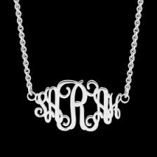 Personalized Monogram Necklace Personalized Monogram Necklace Silver New