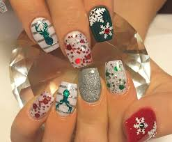 698 best christmas winter nails images on pinterest holiday