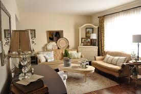 classic living room ideas white cow fabric rug beige microfiber