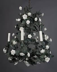 porcelain chandelier roses tole white chandelier editonline us