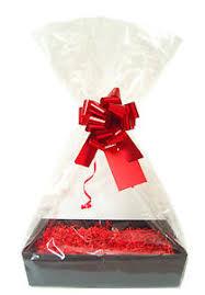 cello shred diy gift basket kit black cardboard tray shred bow
