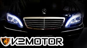 mercedes headlights k2motor installation video 1998 2006 mercedes benz s class w220