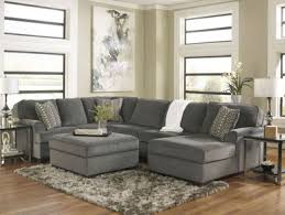 Oversized Loveseat With Ottoman Sole Oversized Modern Gray Fabric Sofa Couch Sectional Set With