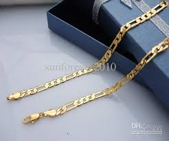 new arrival fashion 24k gp gold plated mens women 2018 brass necklace jewellery chains jh 46cm 4mm fashion 24k gp
