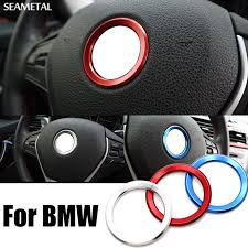 bmw e60 accessories car styling steering wheel decoration circle cover universal for