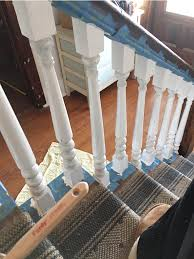 how to paint stair spindles junque cottage