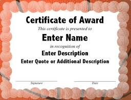 10 best images of blank award certificate templates for basketball