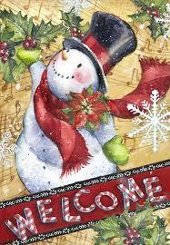 snowman garden flags christmas wikii