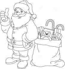 simple christmas coloring pages santa and reindeer santa coloring