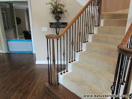 Wooden Banister Spindles High Quality Iron Balusters For Stairs Railing Iron Stair Parts