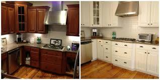 chalk painted kitchen cabinets kitchen cute white painted kitchen cabinets before after