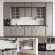 ikea bodbyn grey kitchen cabinets modern kitchenbodbyn 3d model