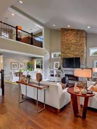 Home Ideas Living Room by Love This Loft Where The Desk Area Is I U0027d Do A Snack Bar With A