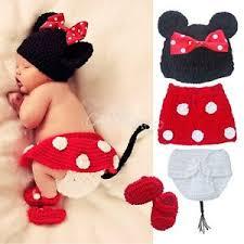 minnie mouse costume 4pcs newborn baby crochet costume infant knit minnie mouse