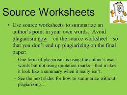 source worksheets use source worksheets to summarize an author u0027s