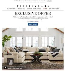 Pottery Barn Mobile Site 32 Companies That Send Instant Coupons Via Email The Krazy