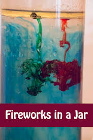 fireworks in a jar a simple density experiment jars coloring