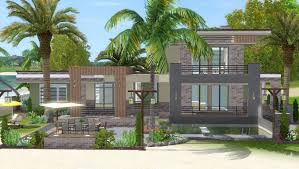 Beach House Building Plans The Sims 3 House Building Lagoon Beach W Simlinks Youtube