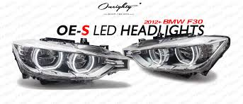bmw e90 headlights oneighty oe s f30 led headlight upgrade for halogen u0026 xenon