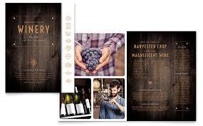 winery brochure template word u0026 publisher
