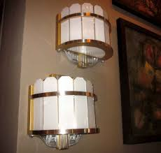 Art Deco Wall Sconces Pair Of Art Deco Theater Wall Sconces At 1stdibs Home Theater