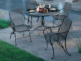 Patio Furniture Wrought Iron Dining Sets - woodard modesto wrought iron dining set gccds