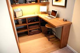 Closet Office Desk Interior And Exterior Closet Office Desk How To Make An Office